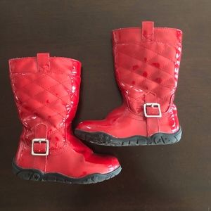 Girls Red Patent Boots  7 .5